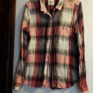 Long sleeve  plaid shirt Mudd